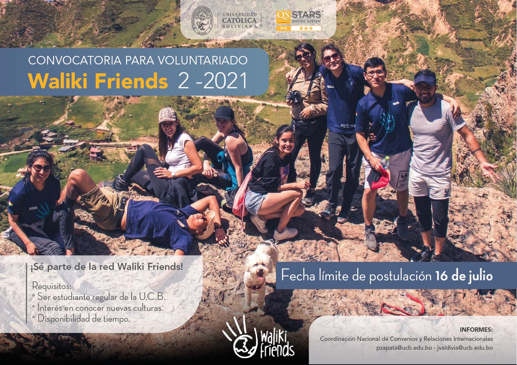 ¡Últimos días para ser parte de la red de voluntariado Waliki Friends!